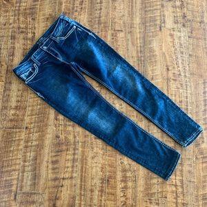 Silver Jeans AKIO Flap Skinny Distressed Size 32